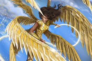 Wonder Woman 1984 Golden Eagle Armour Wallpaper