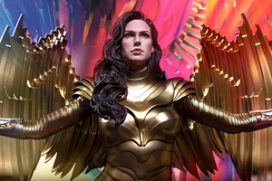 Wonder Woman 1984 Golden Wings Wallpaper