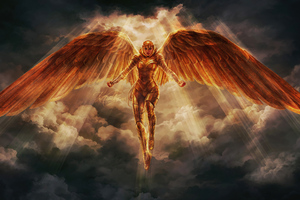 Wonder Woman 1984 Golden Wings Suit 5k Wallpaper