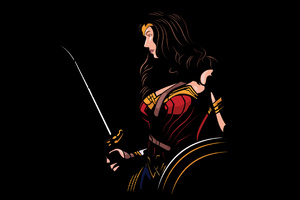 Wonder Woman 4k Minimalism