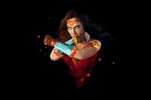 Wonder Woman Abstract Art Wallpaper