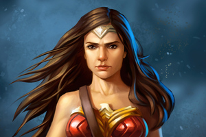 Wonder Woman Amazonian Queen Wallpaper