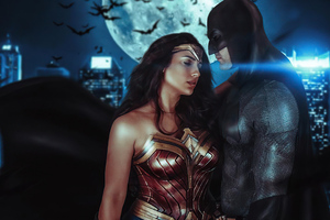 Wonder Woman And Bat 4k Wallpaper