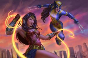 Wonder Woman And X23 Artwork