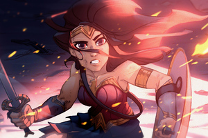 Wonder Woman Animated Wallpaper