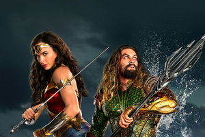 Wonder Woman Aquaman Justice League 2017