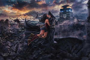 Wonder Woman Bat Love 4k Wallpaper