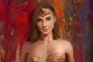 Wonder Woman Brush Art Wallpaper