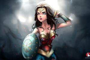 Wonder Woman Cartoon Artwork
