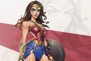 Wonder Woman Cartoon Minimal Art 5k Wallpaper