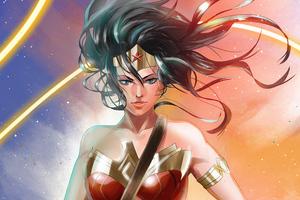 Wonder Woman Clip Pain Art 4k Wallpaper