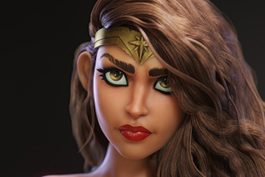 Wonder Woman Closeup Fanart 4k