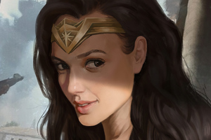 Wonder Woman Closeup Wallpaper