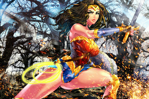 Wonder Woman Colorful Artwork