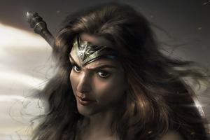 Wonder Woman Comic Covert Art 4k