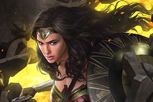 Wonder Woman Coming Artwork Wallpaper