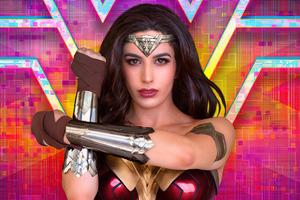 Wonder Woman Cosplay Retro 4k Wallpaper