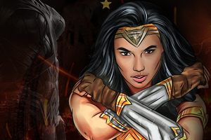 Wonder Woman Crossed Arms Wallpaper