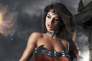 Wonder Woman Cute Cosplay Wallpaper