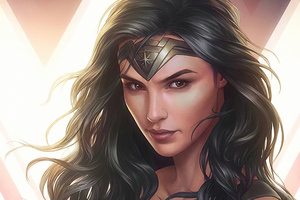 Wonder Woman Cuteartwork Wallpaper