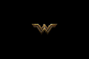 Wonder Woman Dark Logo 4k