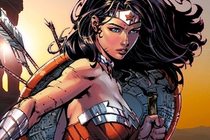 Wonder Woman Dc Comics Artwork Wallpaper