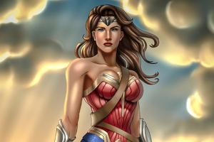 Wonder Woman Digital Fanart 4k Wallpaper