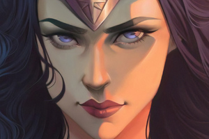 Wonder Woman Face Portrait