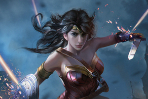 Wonder Woman Fantasy Art 4k Wallpaper