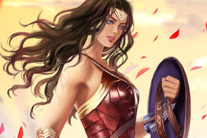 Wonder Woman Fantasy Art Wallpaper