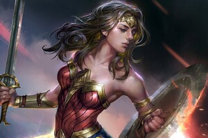 Wonder Woman Fantasy Girl Artwork