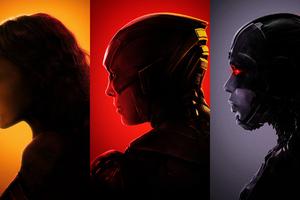Wonder Woman Flash Cyborg Justice League 4k
