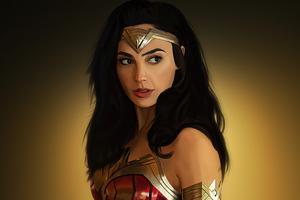 Wonder Woman Gal Artwork Wallpaper