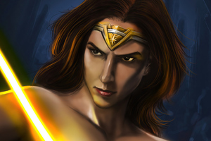 Wonder Woman Gal Sketch Art Wallpaper