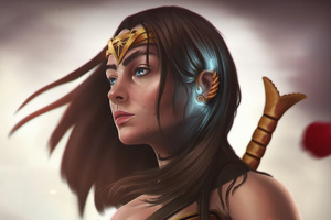 Wonder Woman Goddess Of Amazons Wallpaper