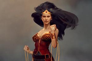 Wonder Woman Hair Flowing Wallpaper