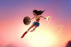 Wonder Woman In Air