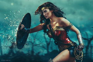 Wonder Woman In War Cosplay 5k Wallpaper