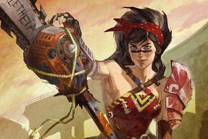Wonder Woman Infinite Crysis Artwork
