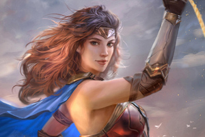 Wonder Woman Justice League Art Wallpaper
