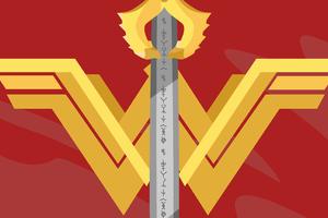 Wonder Woman Logo Minimalist 5k