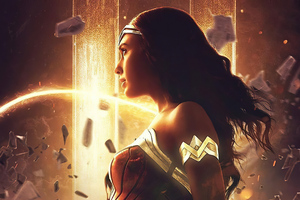 Wonder Woman Looking Away 4k