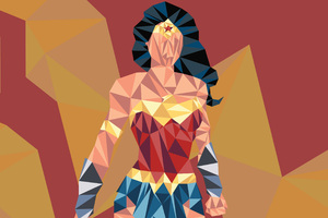 Wonder Woman Low Poly Art