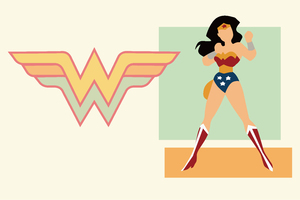Wonder Woman Minimal 10k Wallpaper