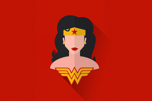 Wonder Woman Minimal Art Wallpaper