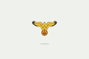 Wonder Woman Minimal Logo 4k