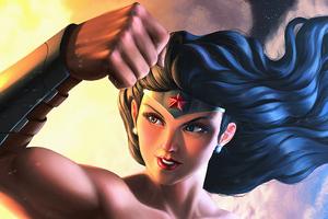Wonder Woman Muscles Wallpaper
