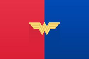 Wonder Woman Old Logo Minimal 8k Wallpaper