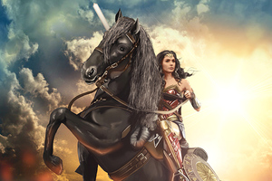 Wonder Woman On Horse