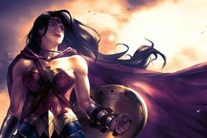 Wonder Woman Orange Sky